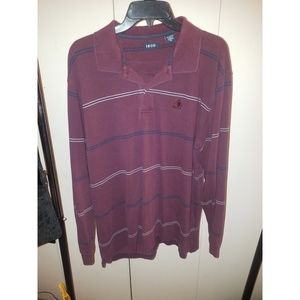 Maroon Izod Rugby Polo